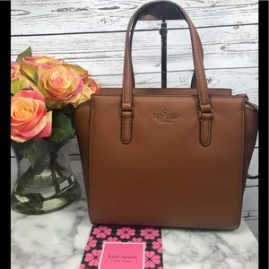 Kate Spade Jackson Warm Gingerbread Satchel Bag